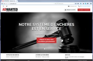 Client AdWanted : Outils pour enchères en live sur internet